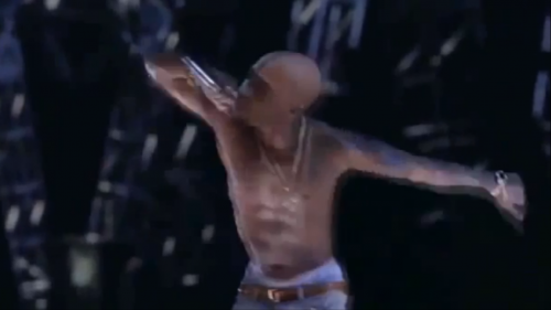 Tupac's Ghost performs with Snoop Dog