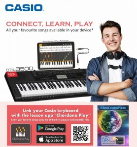 Casio Learning App and Keyboard