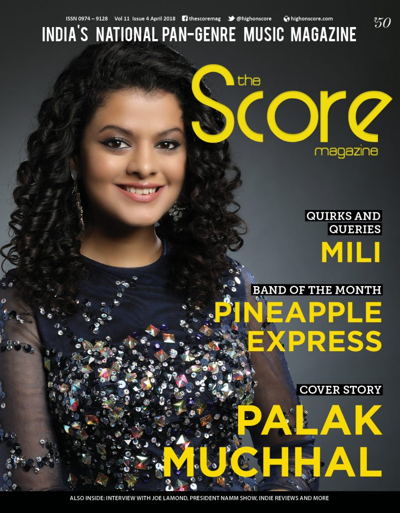 Palak Muchhal on the April 2018 issue!