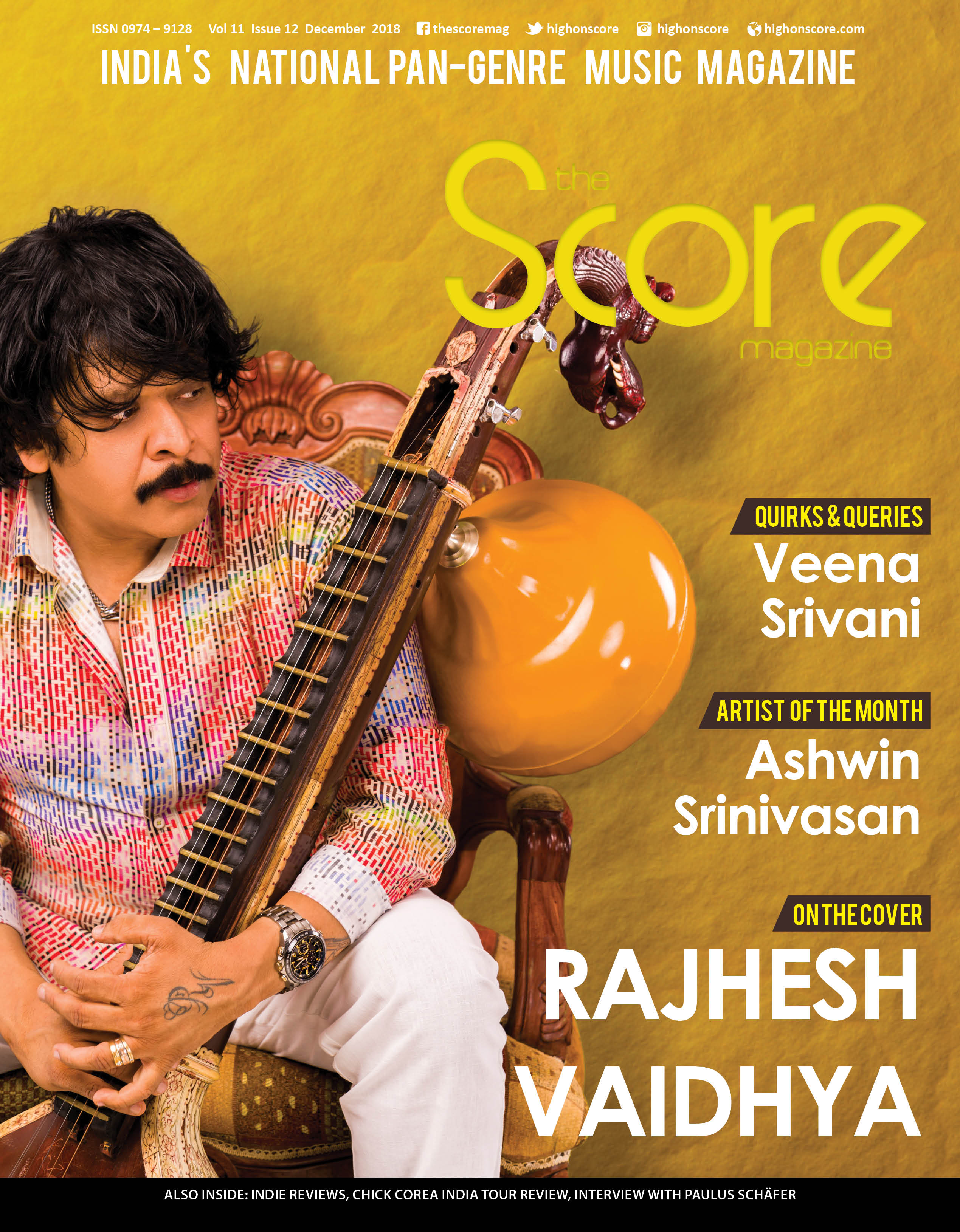 December 2018 issue featuring Rajhesh Vaidhya on the cover!