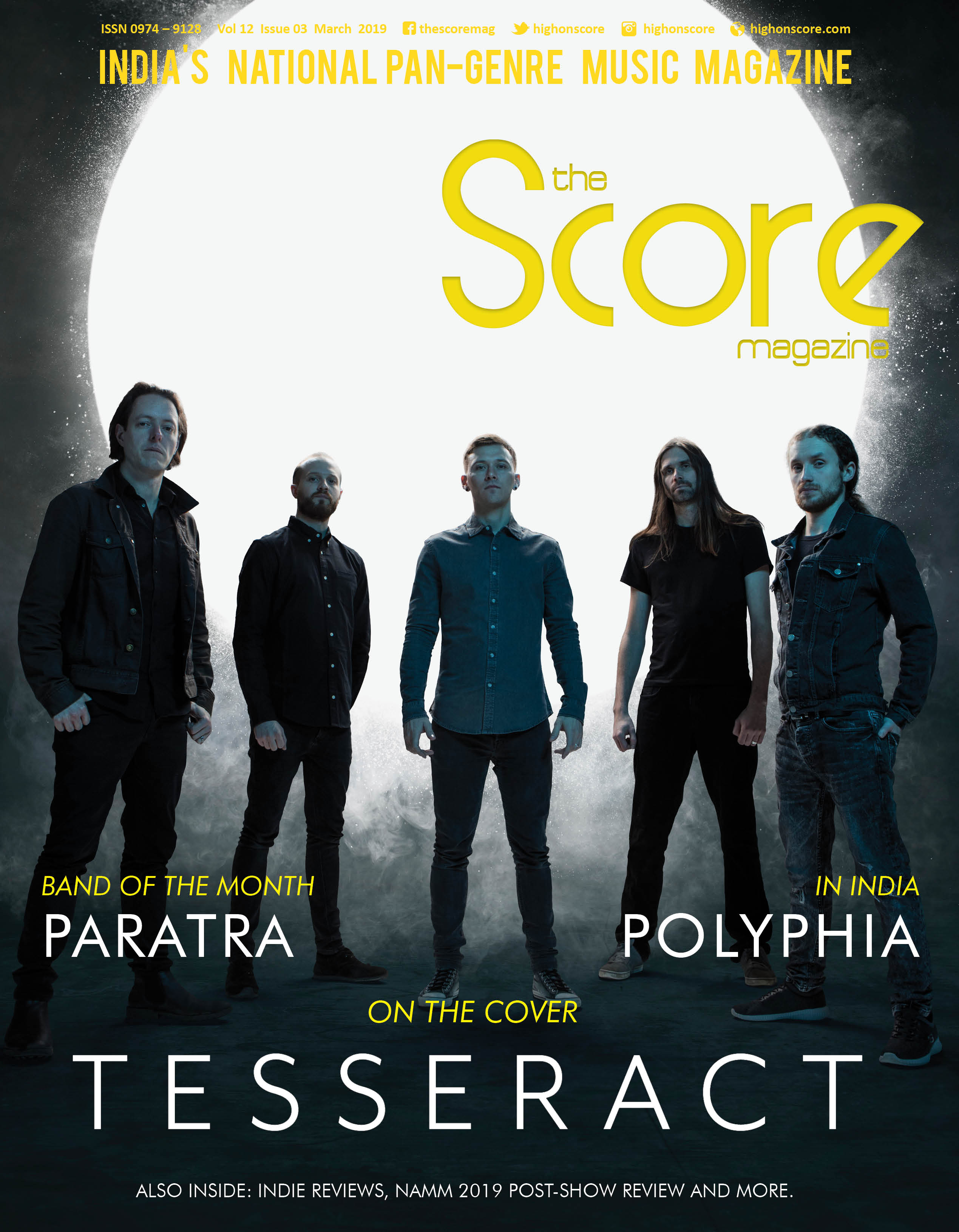 March 2019 issue featuring Tesseract on the cover!