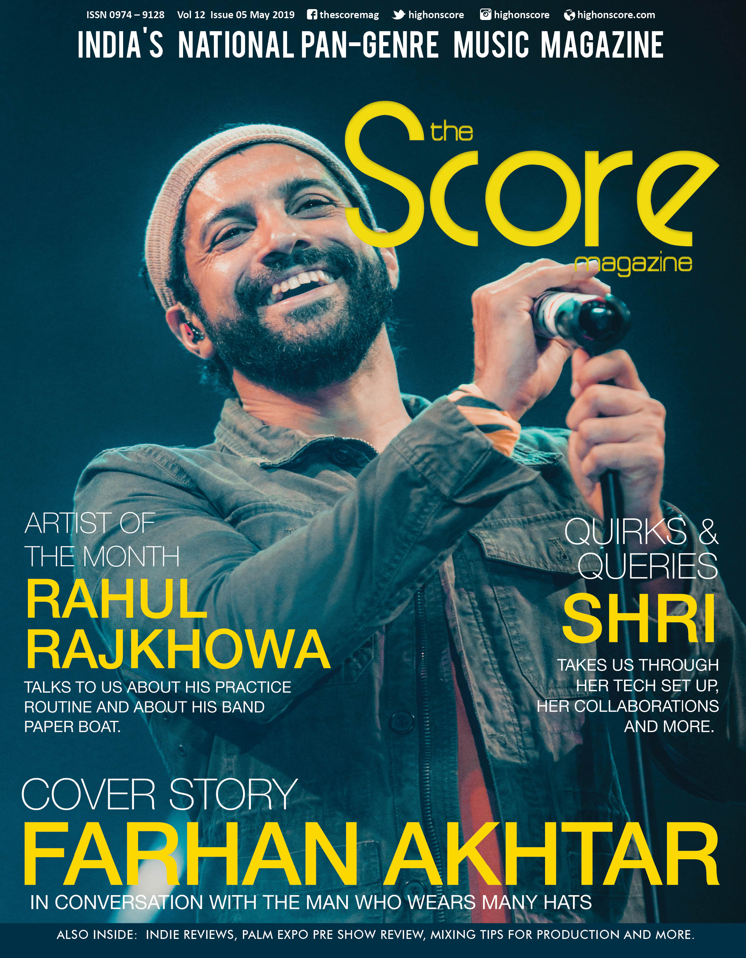 May 2019 issue featuring Farhan Akhtar on the cover