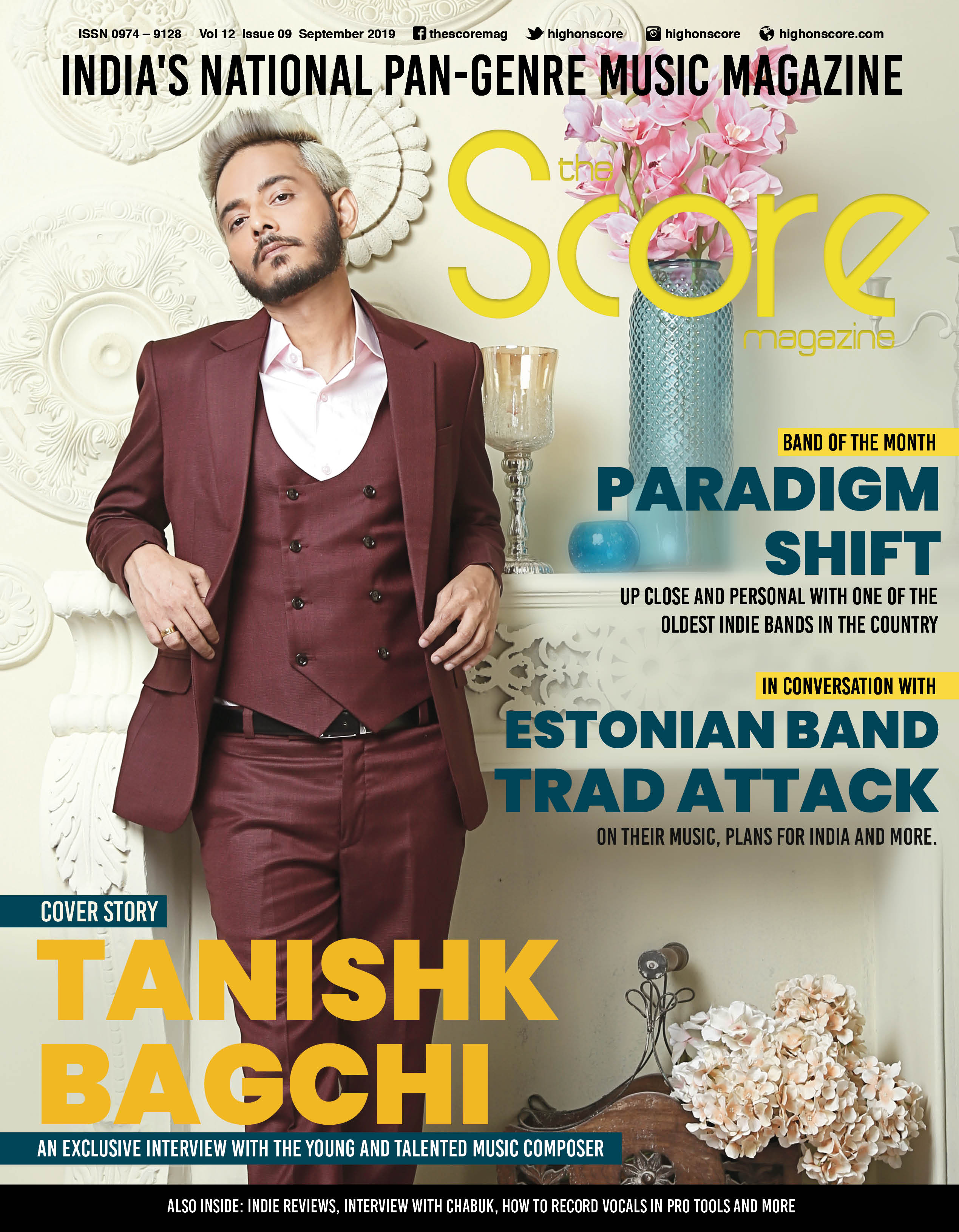 September 2019 issue featuring Tanishk Bagchi