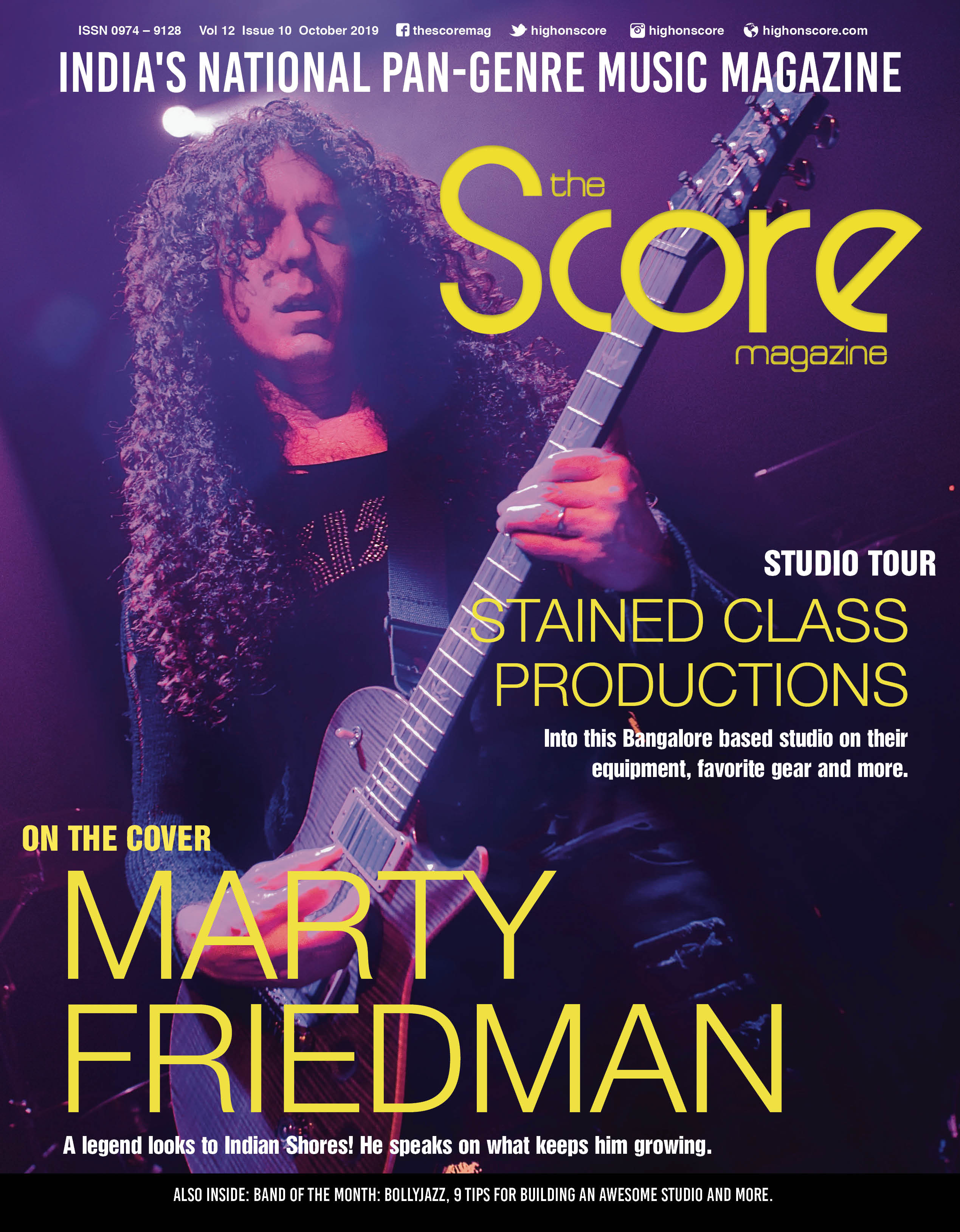 November 2019 issue featuring Marty Friedman on the cover