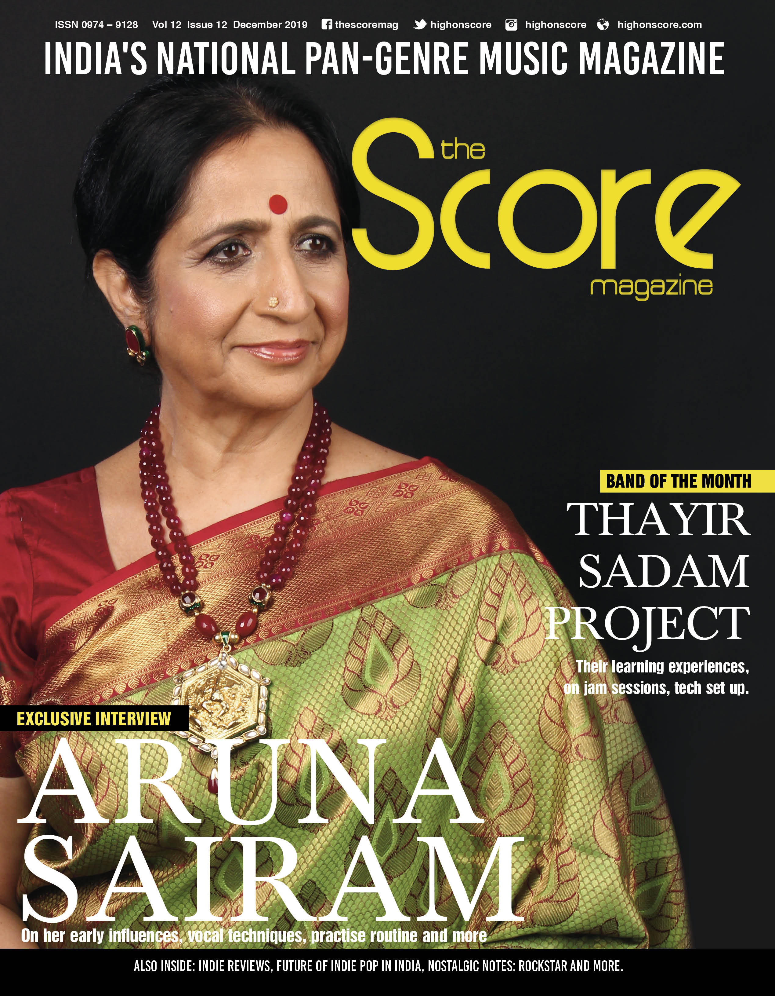 December 2019 issue featuring Aruna Sairam on the cover