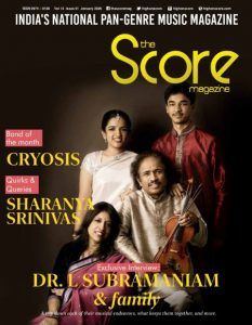 January 2020 issue featuring Dr. L. Subramaniam & family